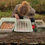 Die Organismen aus einer Bachprobe werden sorgfältig sortiert und ausgelesen, Bild: Schmidt-Halewicz